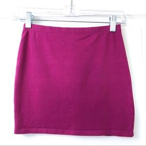 Divided Bodycon Mini Skirt in Magenta Purple Pink